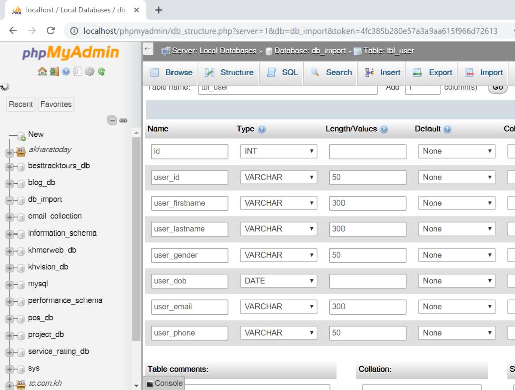 step 4: Generate SQL insert statement in excel worksheet to run in MySql