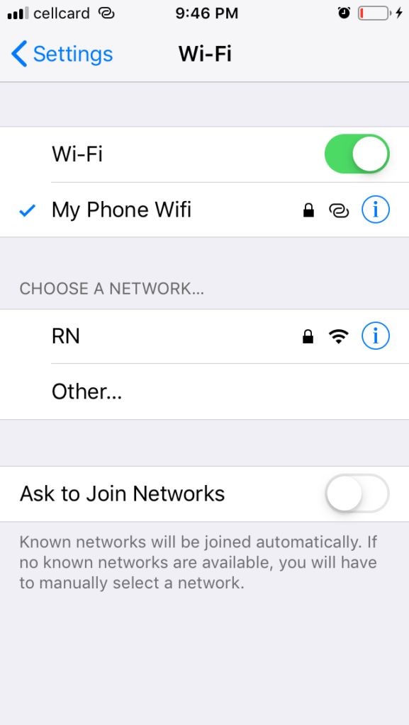 step 9: How to connect to your another iPhone's Instant Hotspot without password